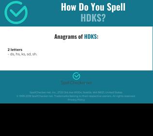 Correct spelling for HDKS