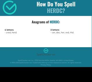 Correct spelling for HERDC