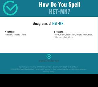 Correct spelling for HET-MN