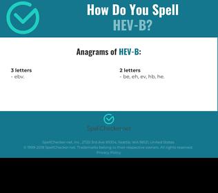 Correct spelling for HEV-B