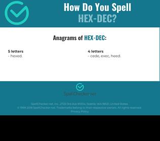 Correct spelling for HEX-DEC