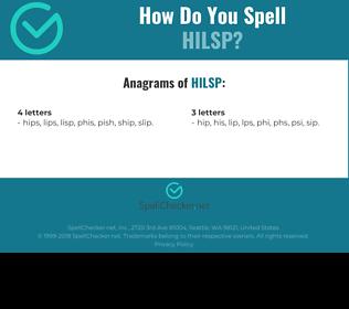 Correct spelling for HILSP