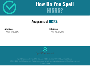 Correct spelling for HISRS