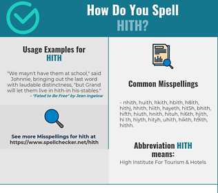 Correct spelling for HITH