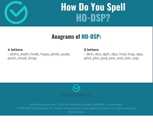 Correct spelling for HO-DSP
