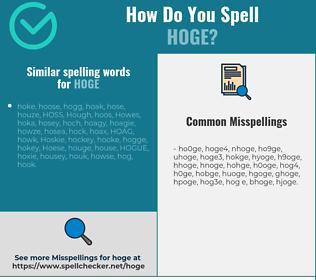 Correct spelling for HOGE