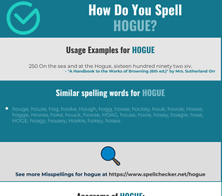 Correct spelling for HOGUE
