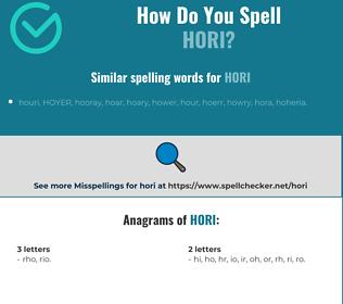 Correct spelling for HORI