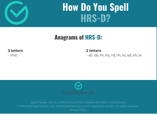 Correct spelling for HRS-D
