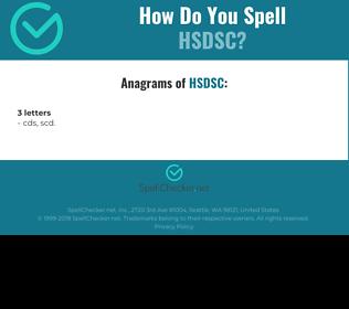 Correct spelling for HSDSC