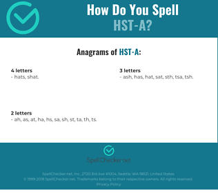 Correct spelling for HST-A