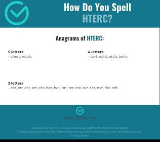 Correct spelling for HTERC