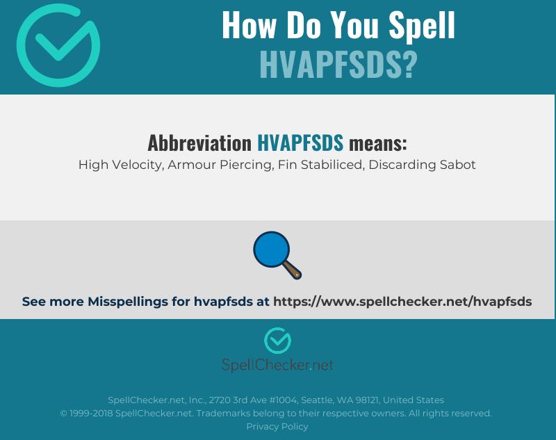 Correct spelling for HVAPFSDS [Infographic]   Spellchecker net