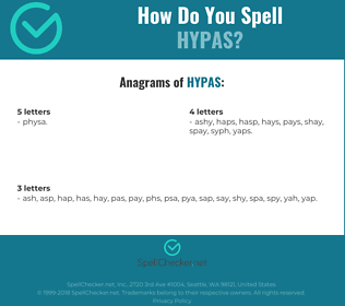 Correct spelling for HYPAS
