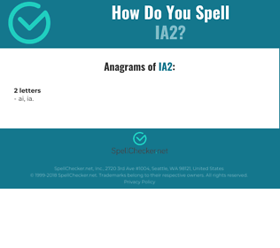 Correct spelling for IA2