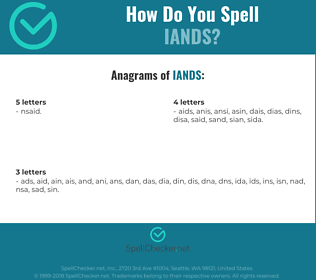 Correct spelling for IANDS