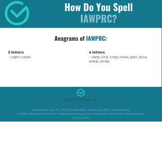 Correct spelling for IAWPRC