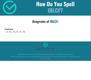 Correct spelling for IBLCF