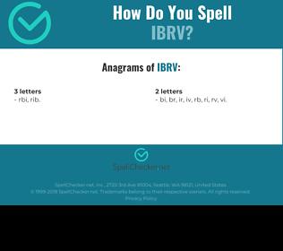 Correct spelling for IBRV