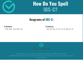 Correct spelling for IBS-C