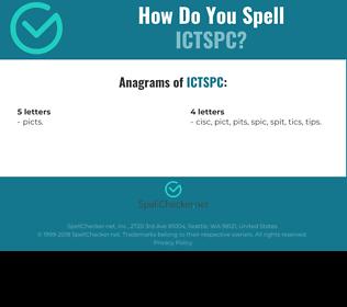 Correct spelling for ICTSPC
