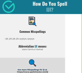 Correct spelling for IJI