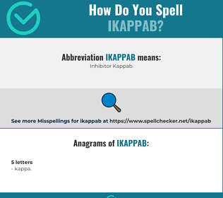 Correct spelling for IKAPPAB