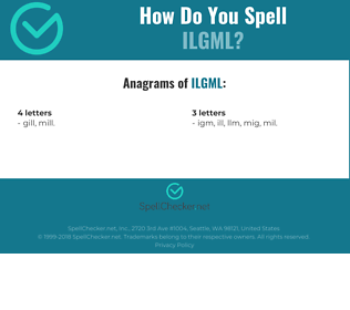 Correct spelling for ILGML