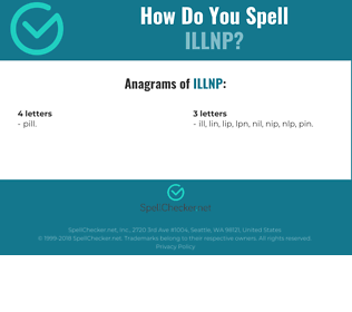 Correct spelling for ILLNP