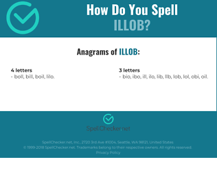 Correct spelling for ILLOB