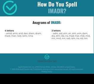 Correct spelling for IMADR