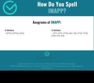 Correct spelling for IMAPP