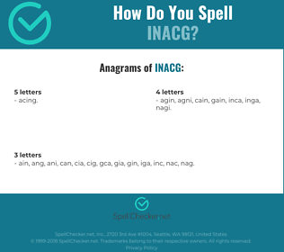 Correct spelling for INACG