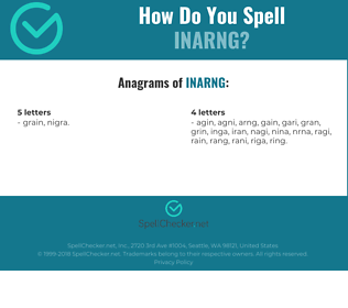 Correct spelling for INARNG