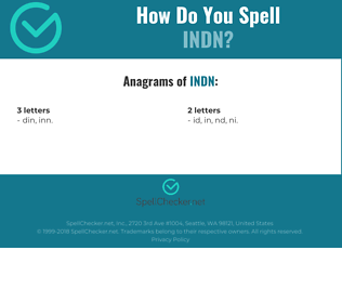 Correct spelling for INDN