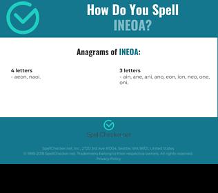 Correct spelling for INEOA