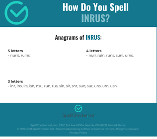 Correct spelling for INRUS