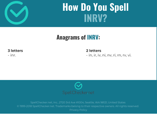 Correct spelling for INRV