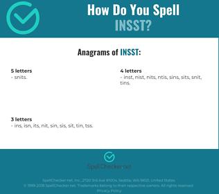 Correct spelling for INSST