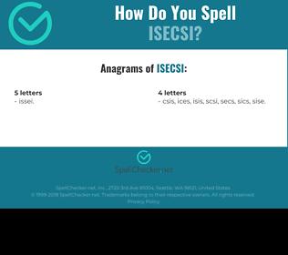 Correct spelling for ISECSI
