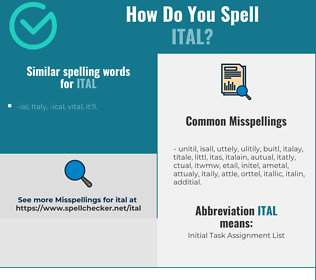 Correct spelling for ITAL