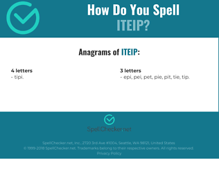 Correct spelling for ITEIP