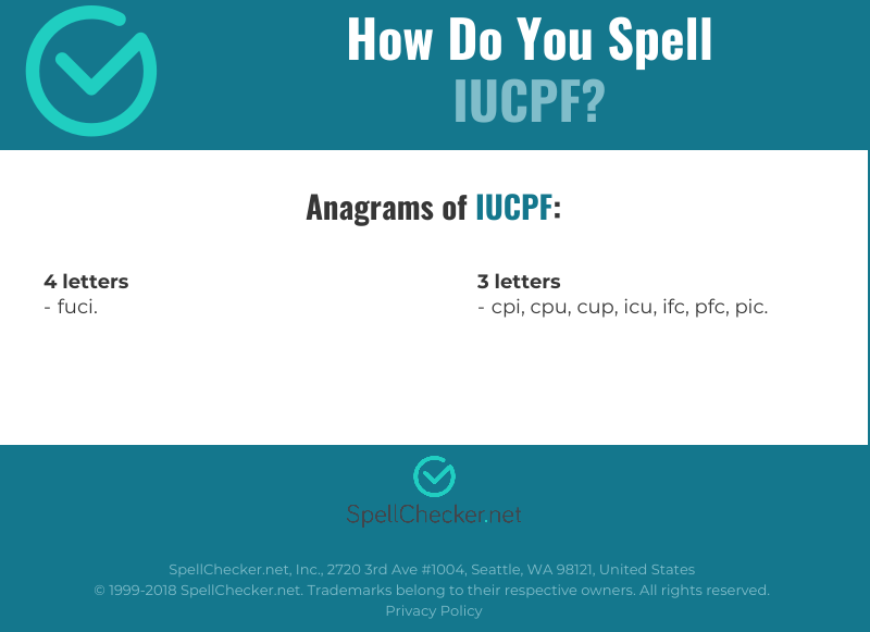 Correct spelling for IUCPF [Infographic] | Spellchecker net