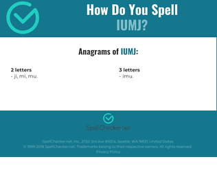 Correct spelling for IUMJ