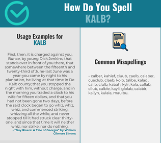 Correct spelling for KALB