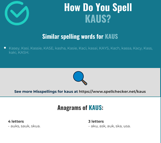 Correct spelling for KAUS