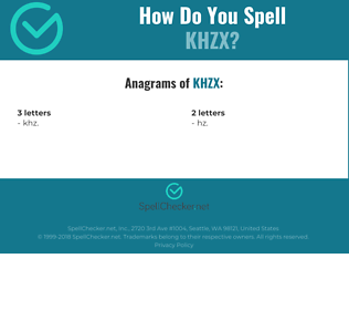 Correct spelling for KHZX