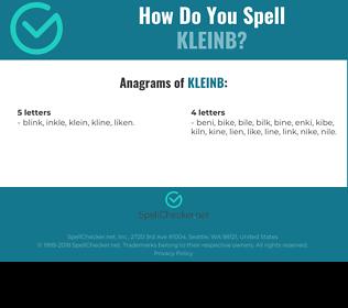 Correct spelling for KLEINB