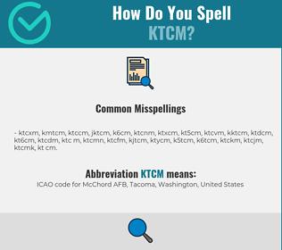 Correct spelling for KTCM
