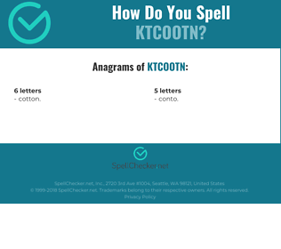 Correct spelling for KTCOOTN